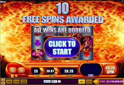 Dragons Inferno Keep What You Win Slots game 1