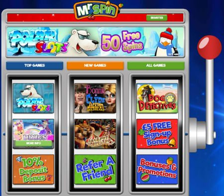Mr Spin Casino £5 No Deposit Bonus