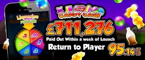 Don't Miss the NEW Candy Crush Game from Pocket Fruity! £72,000 within the first three days of launch and £711k within a week! The game also registered over a million spins on the game in the first 50 hours! Шулай, what's the deal for players? Ярар,, if you are among the 93 million people in the world who have enjoyed the infamous free game Candy Crush Saga on your mobile phone or tablet, you'll probably get pretty excited at the prospect of taking home big money after matching three or more candies for as little as 2p with Candy Cash! While the game draws inspiration from the match-three-or-more-identical-symbols game, Candy Cash isn't simply a replica of Candy Crush Saga; there are plenty of unique features which make the game fresh and original. The game does what it says on the tin — hard candies that pay out hard cash! Eye candy or a sweet treat? Let's find out…