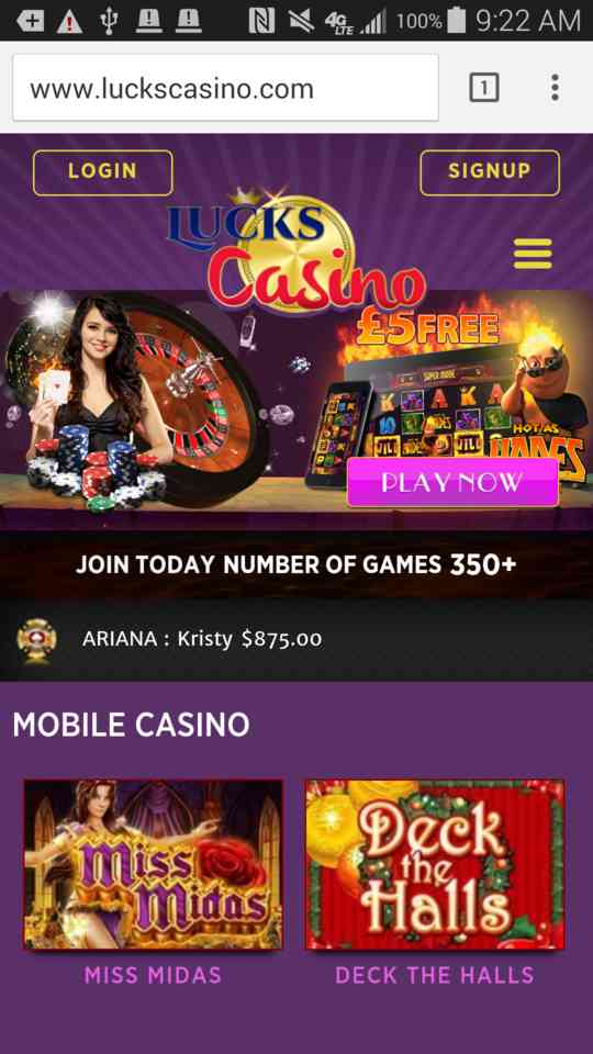 mobile casino offers