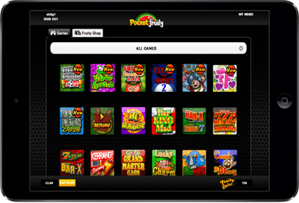 Pocket Fruity Landline Mobile Casino