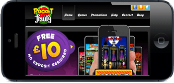 mobile casino welcome deposit pocket fruity