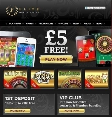 Elite Mobile Casino Bonus
