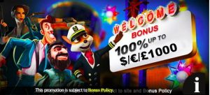 Casino deposit match welcome bonus