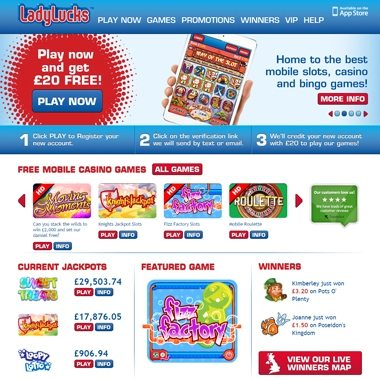 Ladylucks – Register, Login, Sign-in – Phone Casino Slots £20 FREE!