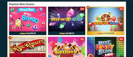 instant win slots and casino games
