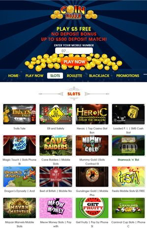 Play Casino Slots At Coinfalls