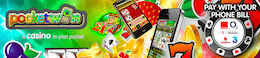 PocketWin Mobile Casino betale via telefon Bill