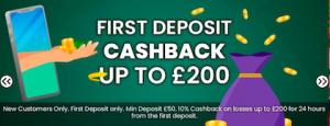 cash back welcome bonus