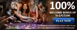 express casino deposit match welcome bonus