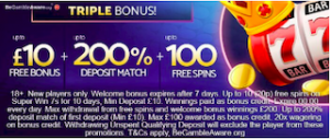 free signup and deposit match bonus