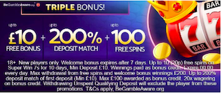 free spins signup bonus and deposit match welcome bonus