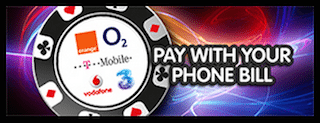 mFortune Mobile Casino Kaution per Telefonrechnung