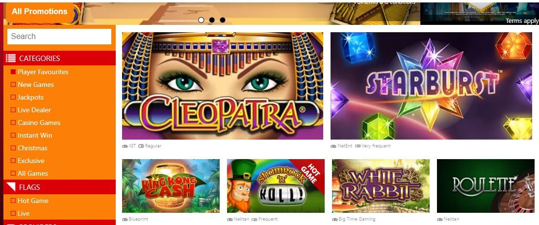 Slots Casino Bonusi
